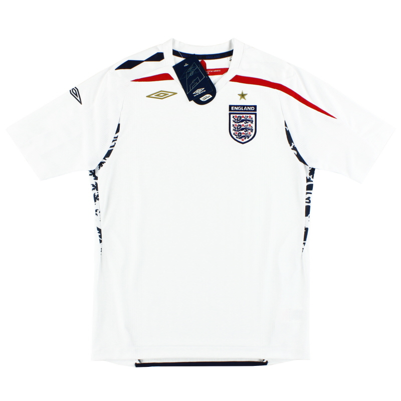 2007-09 England Umbro Home Shirt *BNIB* 6-7 Years - 735792