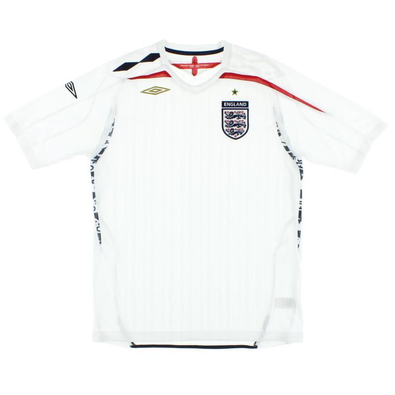 2007-09 England Umbro Home Shirt S