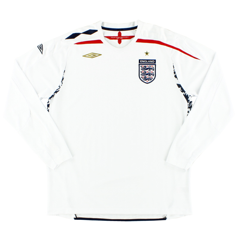 2007-09 England Home Shirt L/S XL