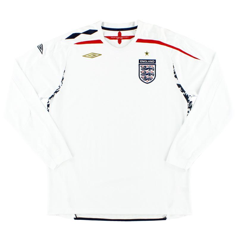 2007-09 England Umbro Home Shirt L/S M