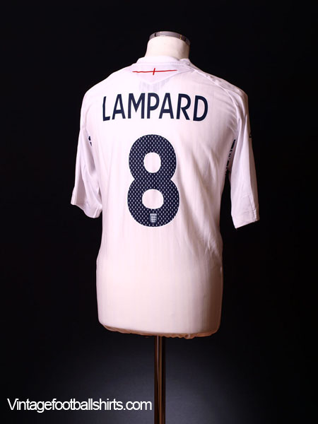 2007-09 England Home Shirt Lampard #8 *BNWT* XL