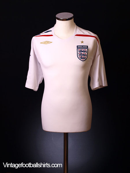 2007-09 England Home Shirt XL