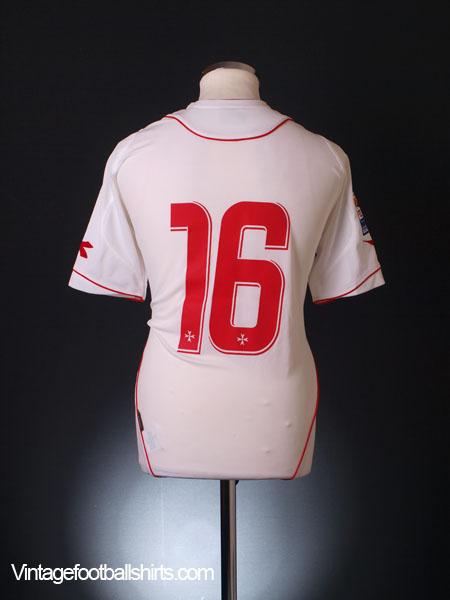 2007-09 Malta Match Issue Away Shirt #16 L