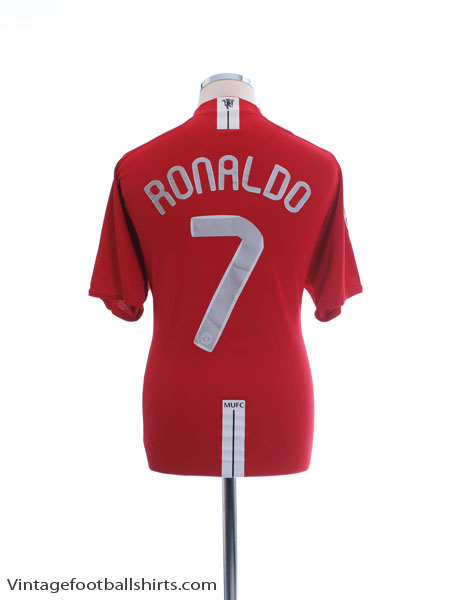 2007-09 Manchester United CL Home Shirt Ronaldo #7 XL - 237924-666