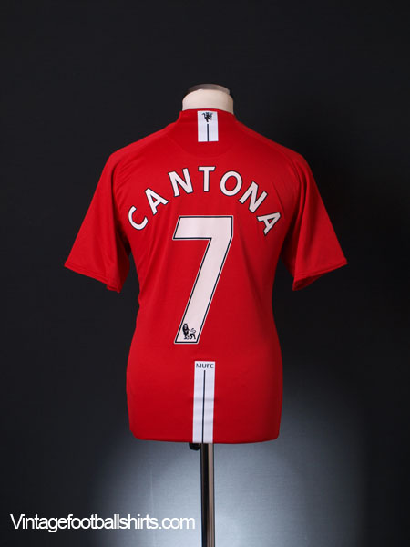 2007-09 Manchester United Home Shirt Cantona #7 M