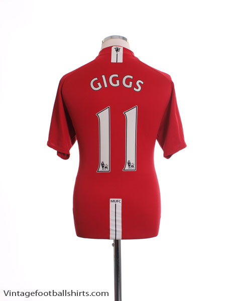 2007-09 Manchester United Home Shirt Giggs #11 L