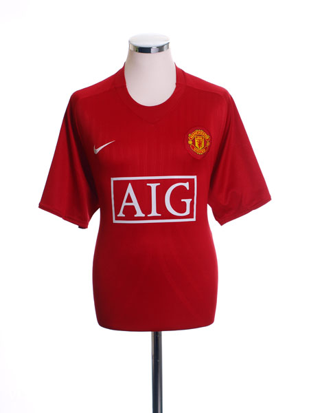2007-09 Manchester United Home Shirt *Mint* L