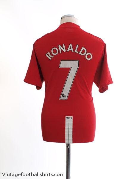 2007-09 Manchester United Home Shirt Ronaldo #7 XL - 237924-666