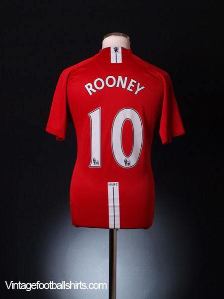 2007-09 Manchester United Home Shirt Rooney #10 XL.Boys
