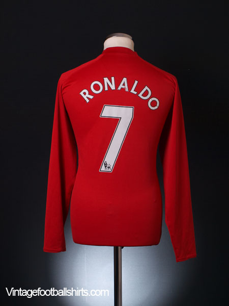 8bbd74a67 2007-09 Manchester United Home Shirt Ronaldo  7 L S XL.Boys for sale