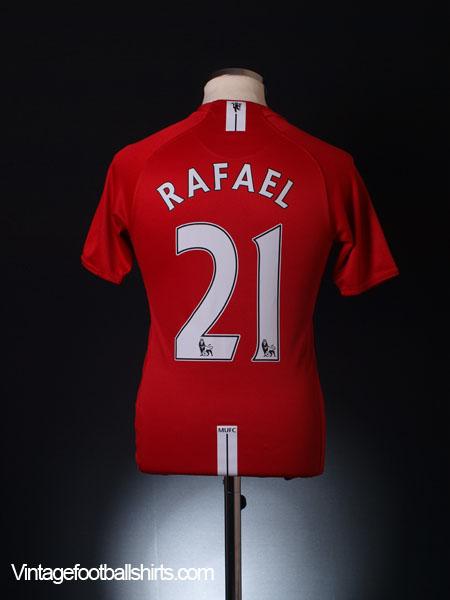 2007-09 Manchester United Home Shirt Rafael #21 XL.Boys