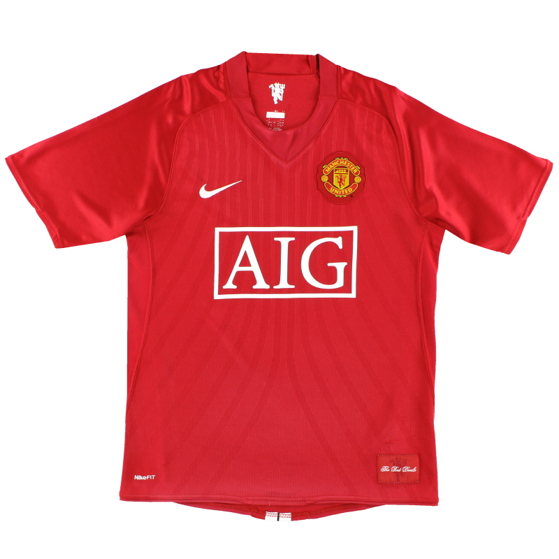 2007-09 Manchester United Nike Home Shirt S - 237924-666