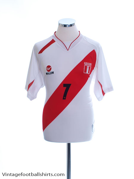 2007-09 Peru Home Shirt #7 L