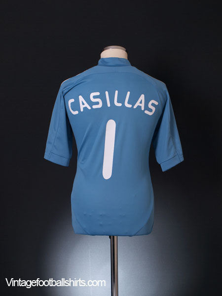 2007-09 Spain Home Shirt Casillas #1 M