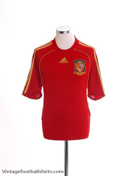 2007-09 Spain Home Shirt *Mint* L