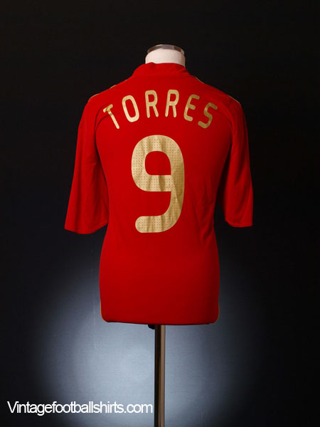 2007-09 Spain Home Shirt Torres #9 L