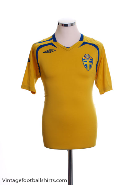 2007-09 Sweden Home Shirt S