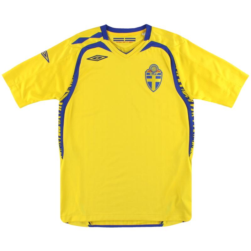 2007-09 Sweden Umbro Home Shirt XL