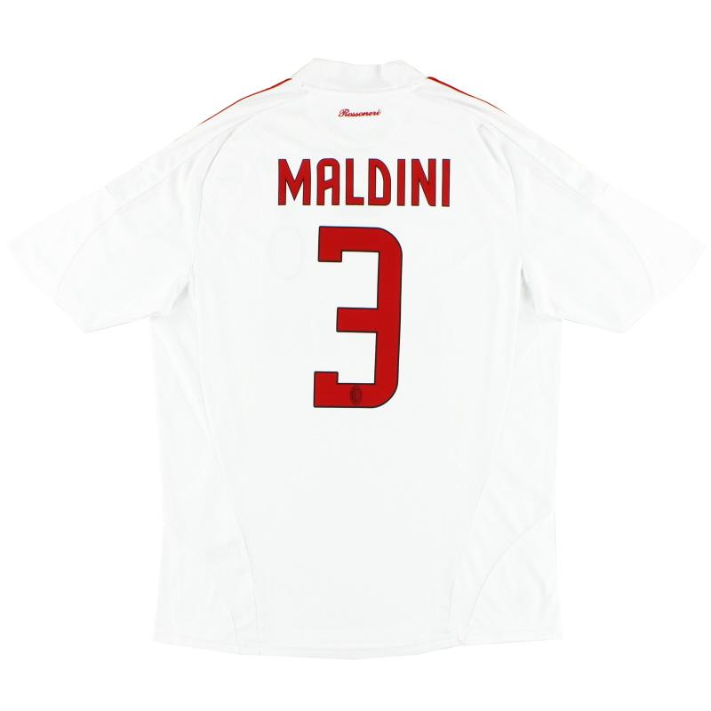 2008-09 AC Milan Away Shirt Maldini #3 L
