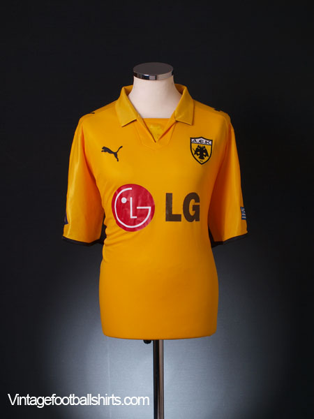 2008-09 AEK Athens Home Shirt S