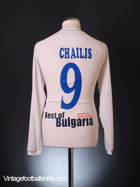 2008-09 AEP Paphos Match Issue Away Shirt Chailis #9 L/S M