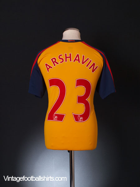 2008-09 Arsenal Away Shirt Arshavin #23 M