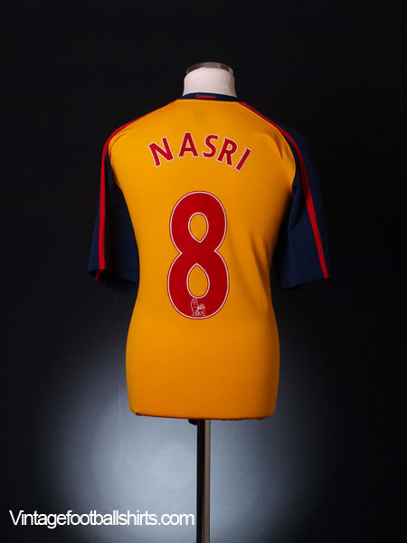 2008-09 Arsenal Away Shirt Nasri #8 M