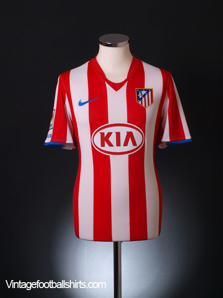 2008-09 Atletico Madrid Home Shirt XL