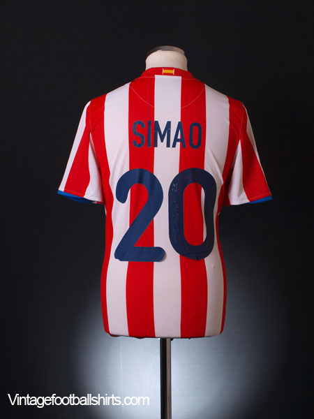 2008-09 Atletico Madrid Home Shirt Simao #20 M