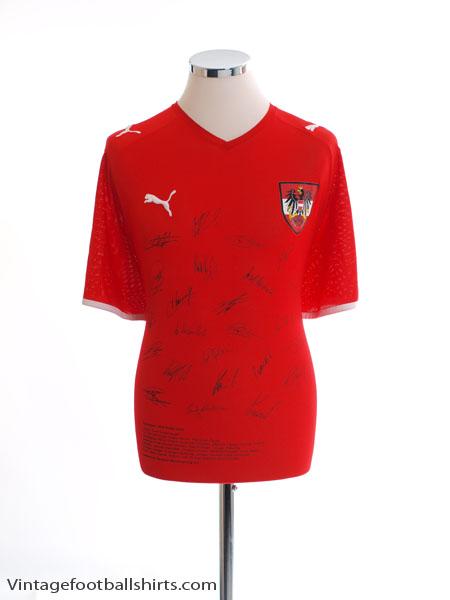 2008-09 Austria Signed Home Shirt L
