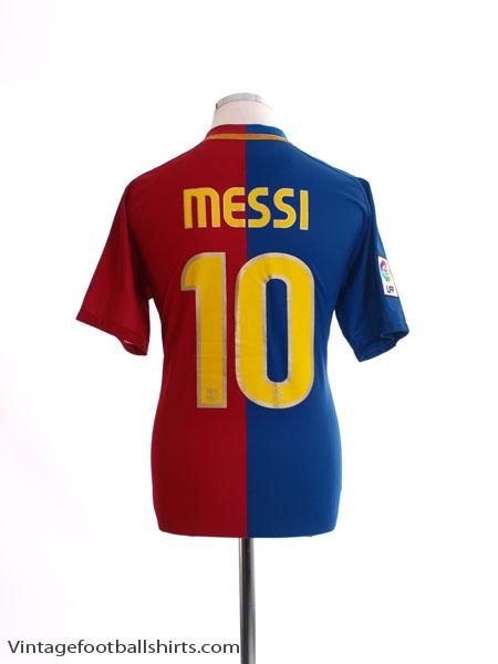2008-09 Barcelona Home Shirt Messi #10 M