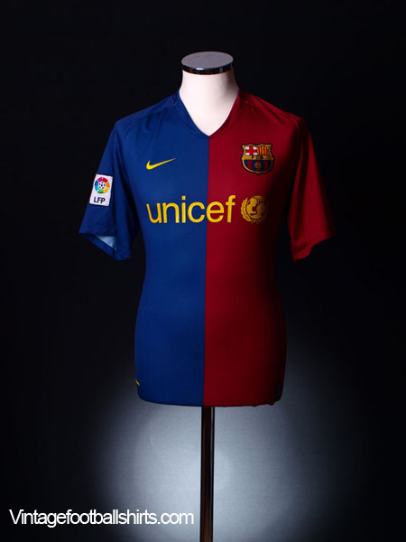 2008-09 Barcelona Home Shirt M.Boys