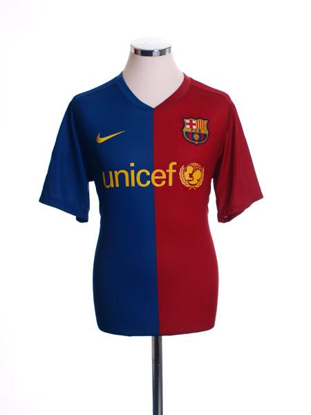 2008-09 Barcelona Home Shirt L
