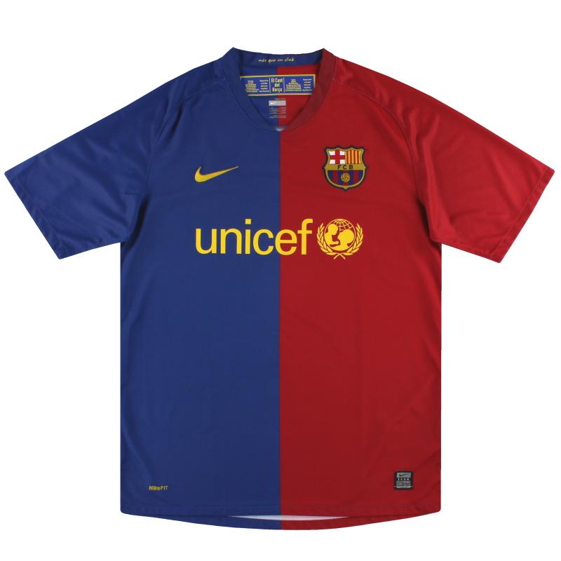 2008-09 Barcelona Nike Home Shirt *Mint* M - 286784-655