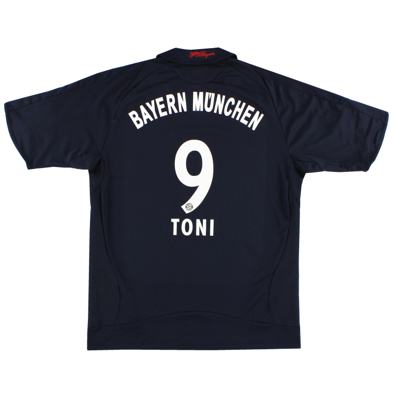 2008-09 Bayern Munich Away Shirt Toni #9 S