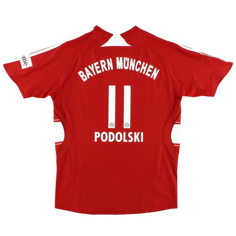 2008-09 Bayern Munich Home Shirt Podolski #11 XS - 688133