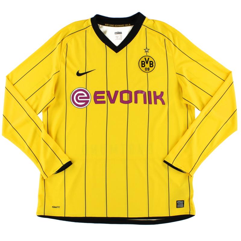 2008-09 Borussia Dortmund Home Shirt L/S L