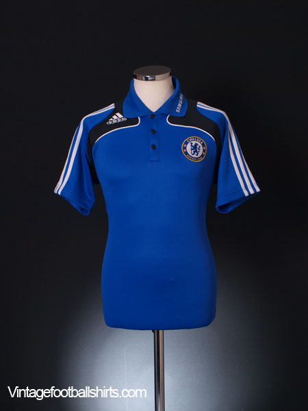 2008-09 Chelsea adidas Polo Shirt M