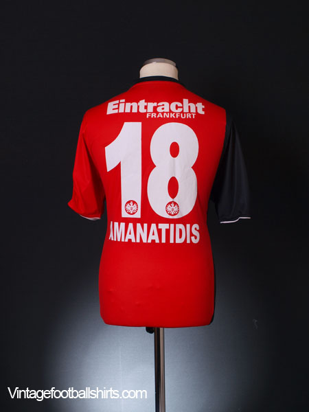 2008 09 eintracht frankfurt home shirt amanatidis 18 m l. Black Bedroom Furniture Sets. Home Design Ideas