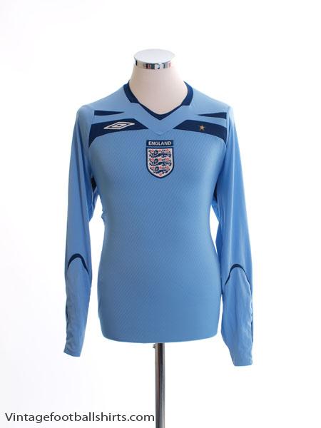 2008-09 England Goalkeeper Shirt M