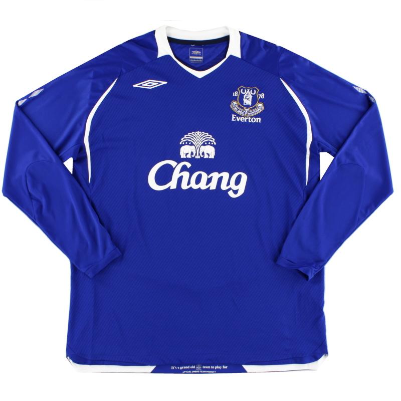 2008-09 Everton Home Shirt L/S XXL