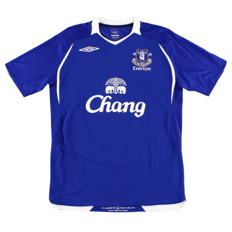 2008-09 Everton Home Shirt *Mint* M