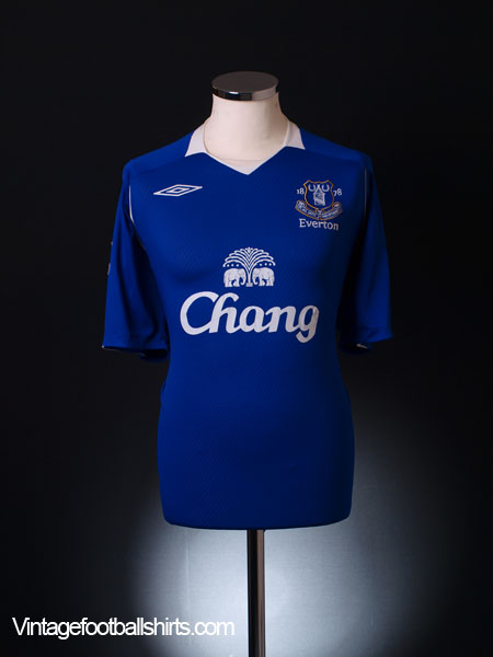 2008-09 Everton Home Shirt M