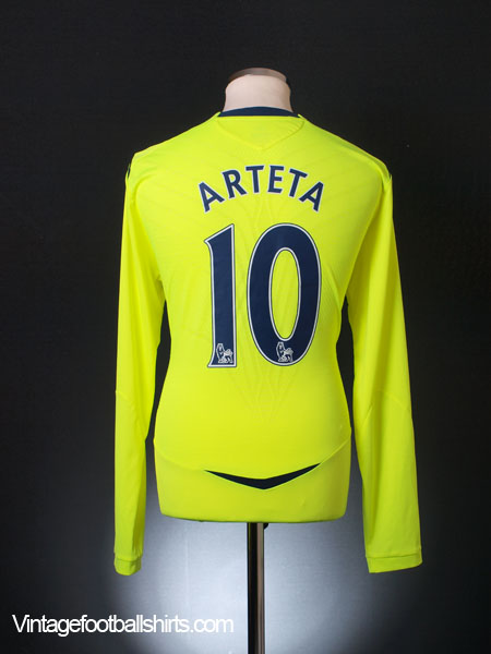 2008-09 Everton Third Shirt Arteta #10 L/S XL