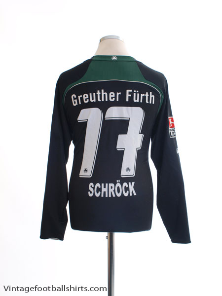 2008-09 Greuther Furth Away Shirt Schrock #17 L/S XS