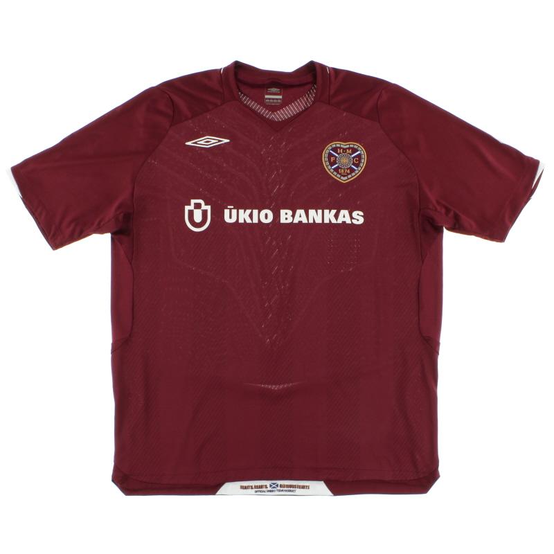 2008-09 Hearts Home Shirt XL