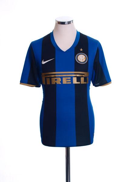 2008-09 Inter Milan Home Shirt XL - 287408-490