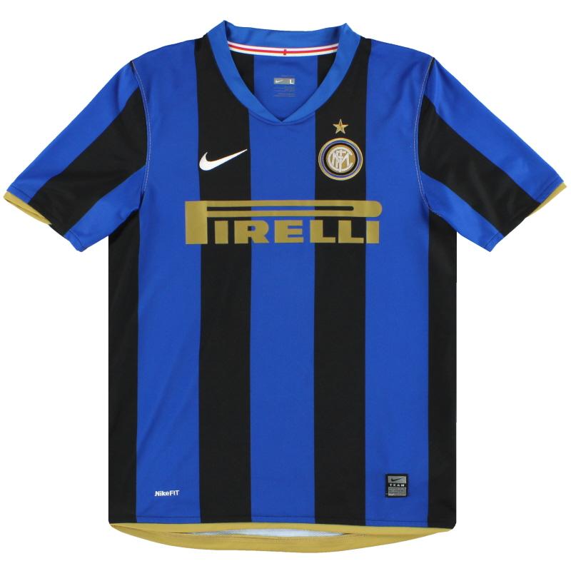 2008-09 Inter Milan Nike Home Shirt L.Boys - 287416-490