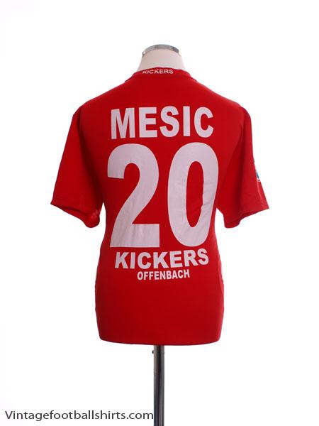 2008-09 Kickers Offenback Home Shirt Mesic #20 L