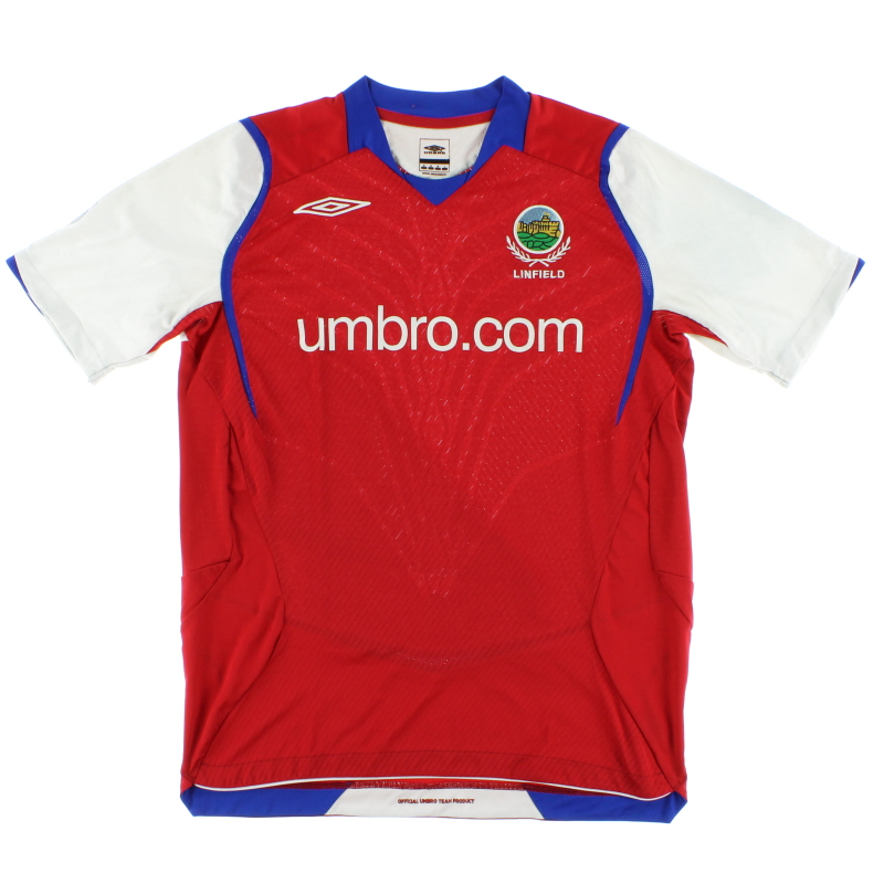 2008-09 Linfield Away Shirt S
